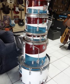 Ludwig Vistalite Bicentennial Red White Blue Swirl Pattern D